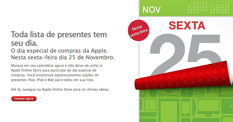Dia especial de compras da Apple