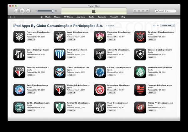 Ícones dos apps do GLOBOESPORTE.COM