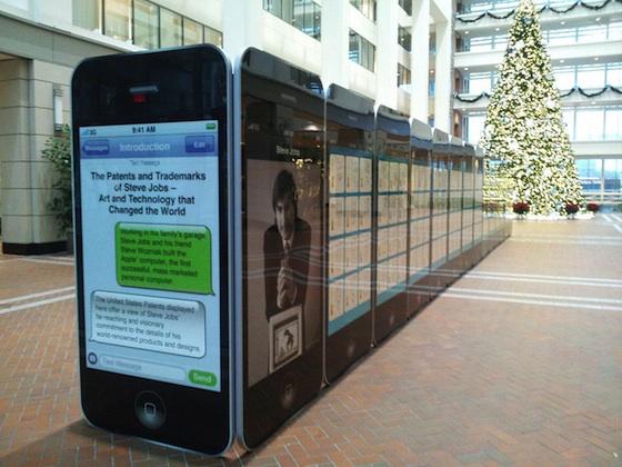 Exposição das patentes de Steve Jobs no USPTO