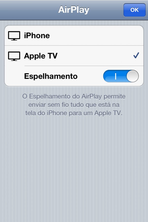 AirPlay Mirroring no iPhone 4S