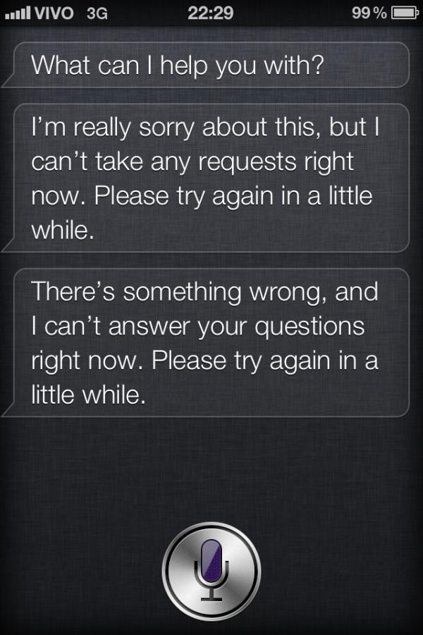 Erro na Siri