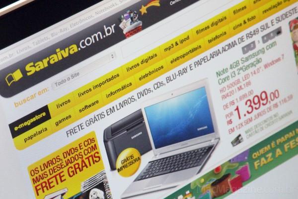 Home da Saraiva.com.br