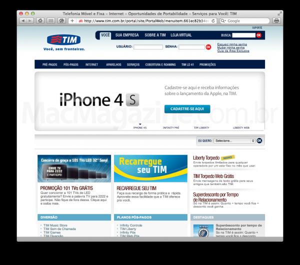 iPhone 4S na TIM