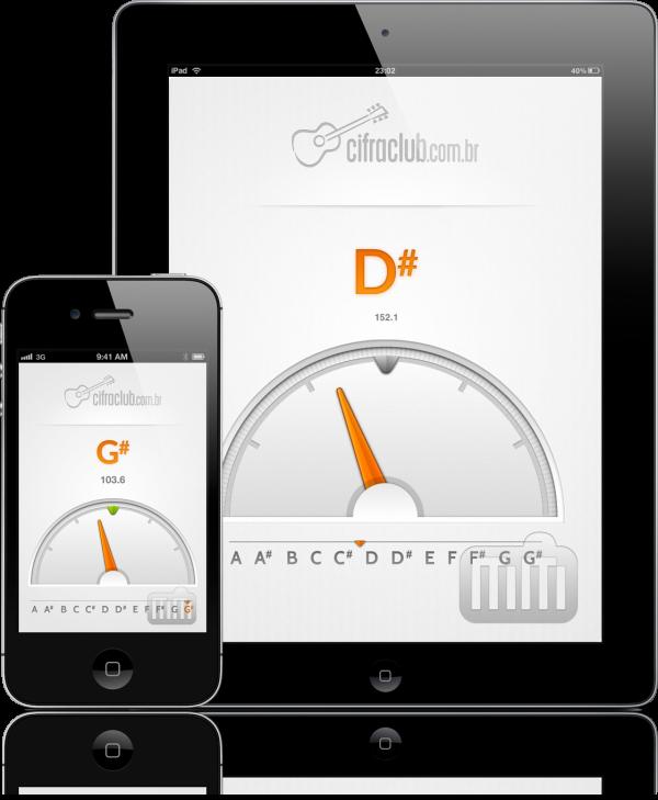 Afinador Cifra Club - iPad e iPhone