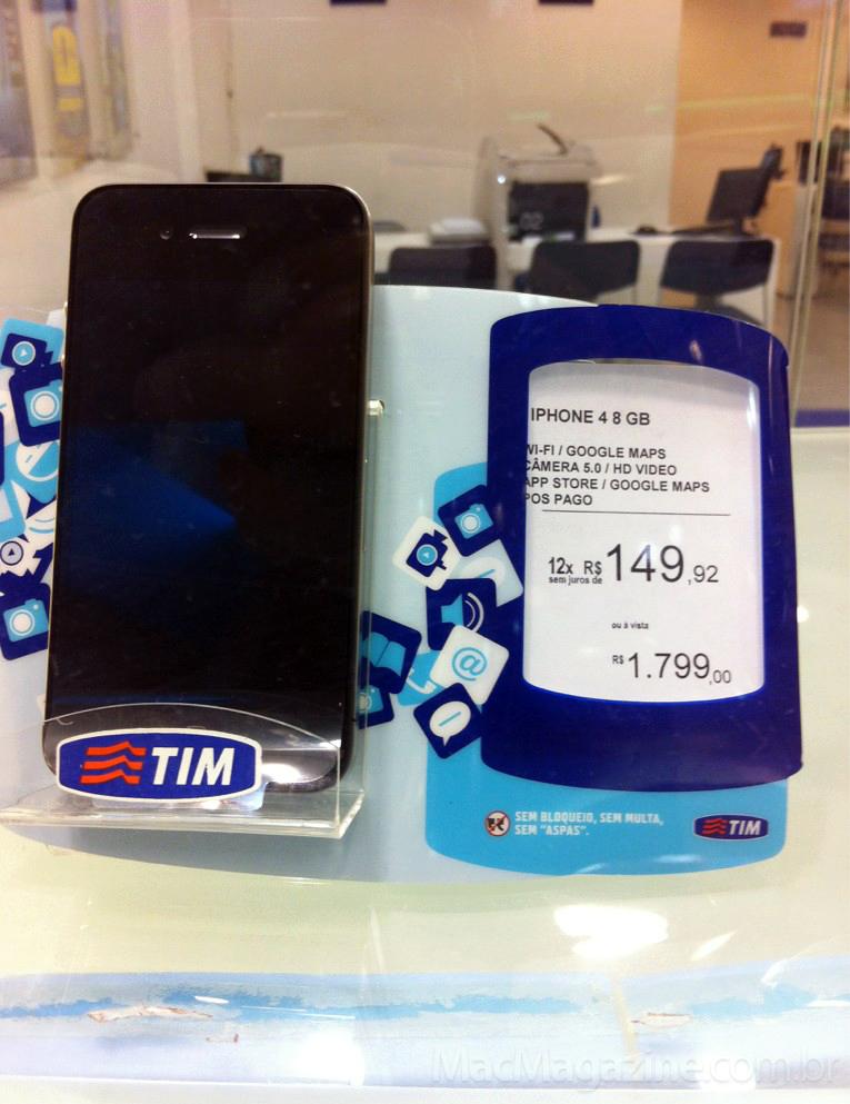 iPhone 4 de 8GB na TIM