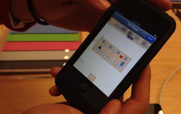 App interno de localização de clientes em Retail Store - NYT