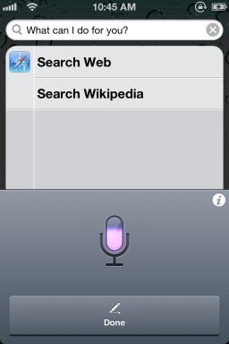 Siri Dictation