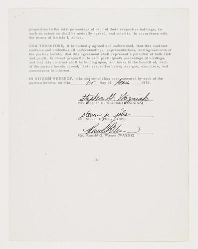 Contrato de constituição da Apple Computer