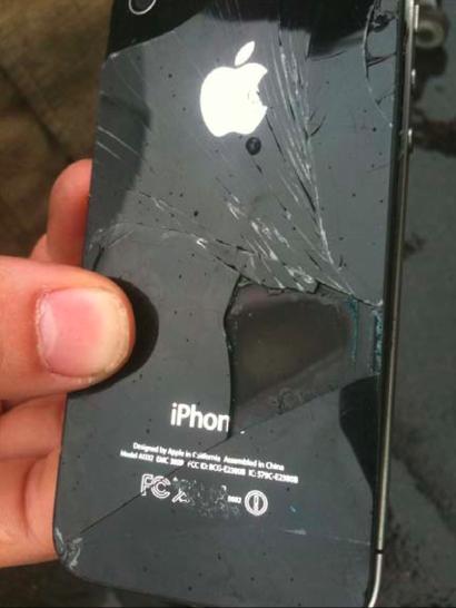 iPhone 4 em combustão espontânea