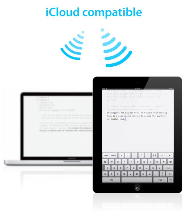 iA Writer com suporte ao iCloud