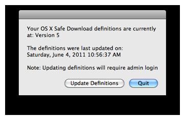 XProtect.plist no Mac OS X - Safe Download Version