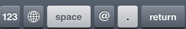Teclado do Mail no iOS 5.1