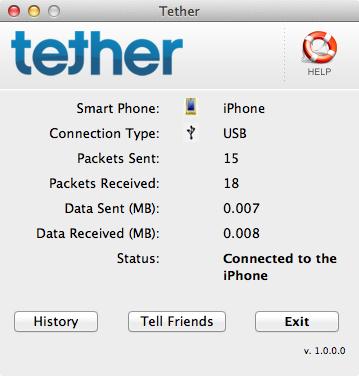 Tether rodando no Mac