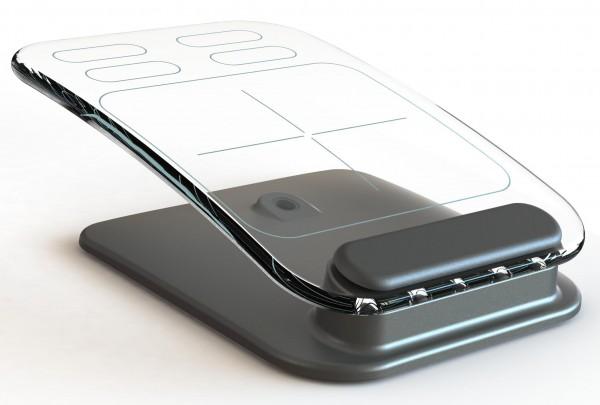 Teclado e mouse multi-touch de vidro