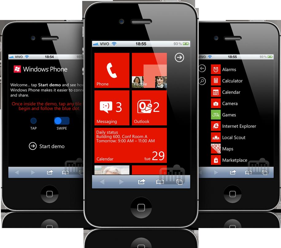Windows Phone 7 em iPhones