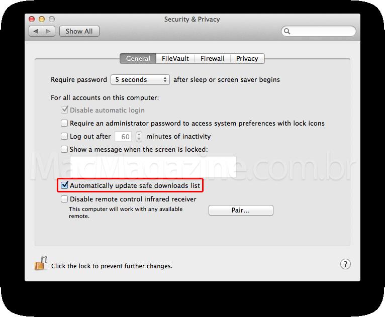 XProtect.plist no Mac OS X
