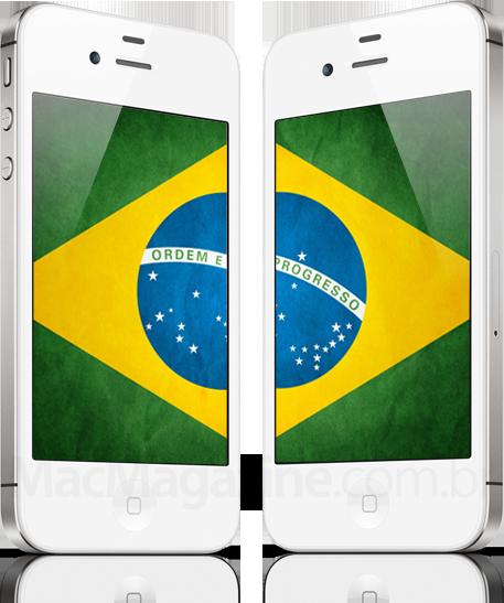 iPhone 4S com a bandeira do Brasil - MacMagazine