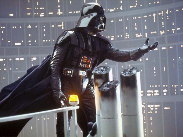Darth Vader estendendo a mão