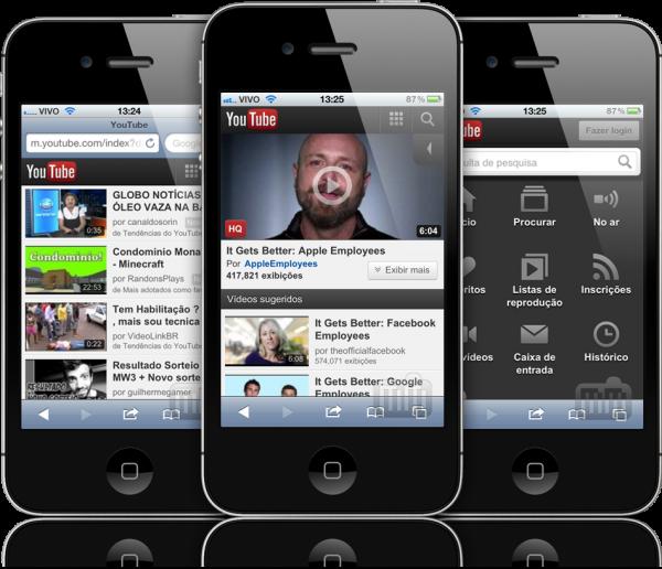 Novo YouTube mobile