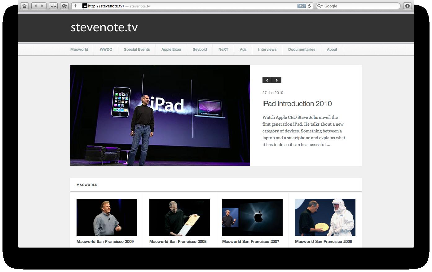 stevenote.tv
