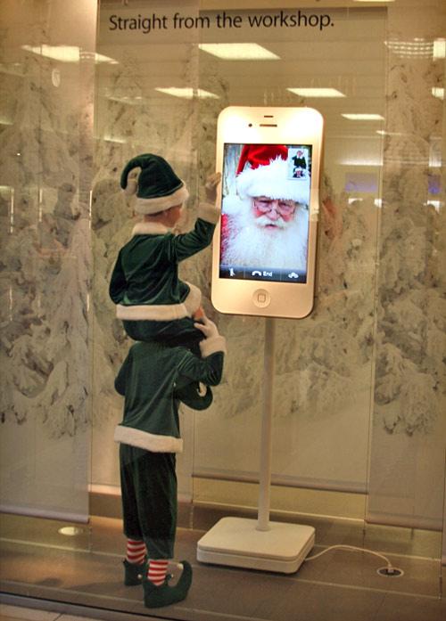 Decoração de Natal em Apple Retail Store - Photo Giddy