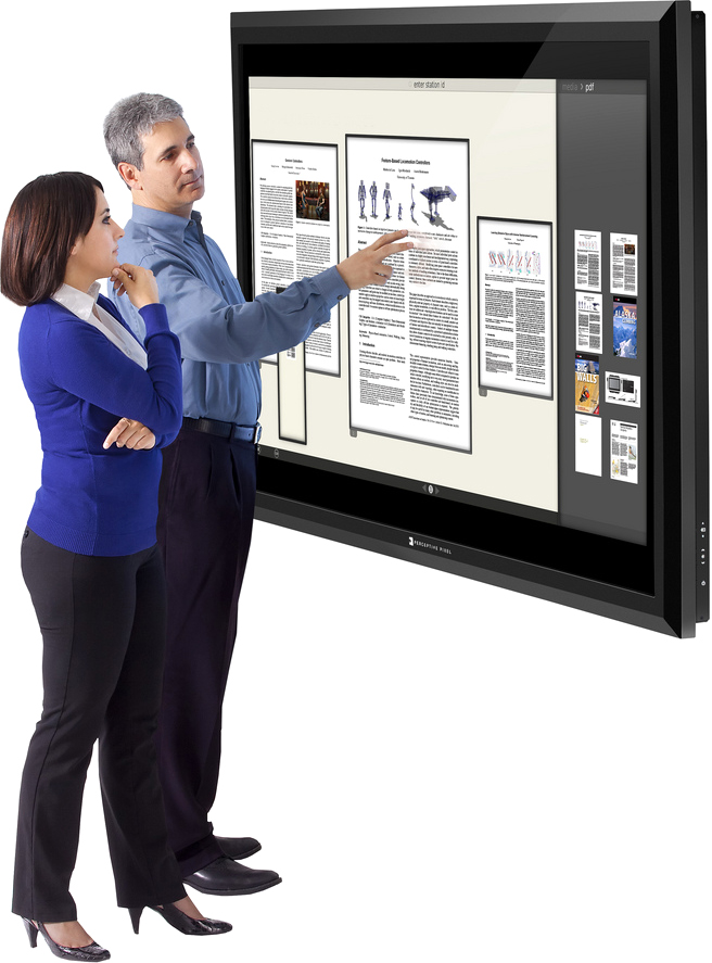 Display Multi-Touch LCD de 82 polegadas da Perspective Pixel
