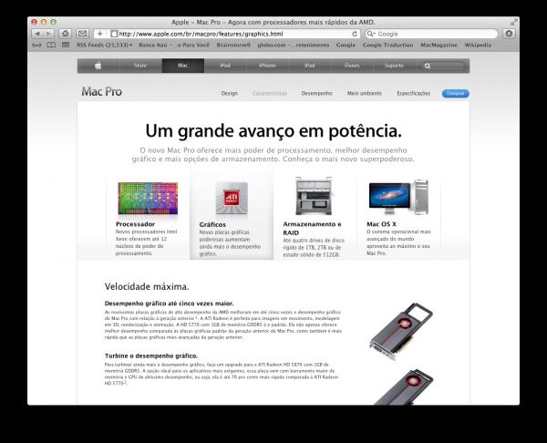 Página do Mac Pro