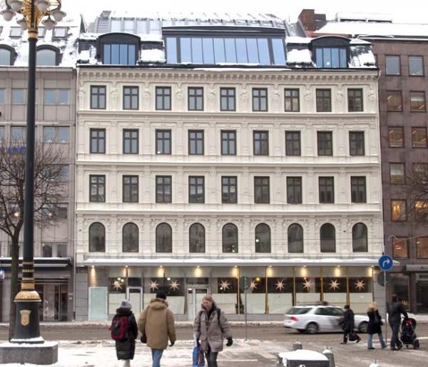 Possível prédio onde se instalará um Apple Store, na Suécia