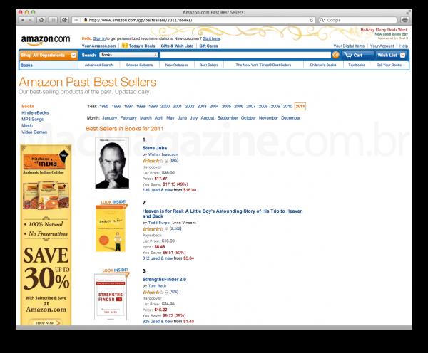 Steve Jobs na Amazon.com
