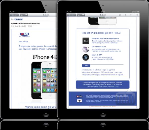 TIM sobre iPhone 4S e Siri