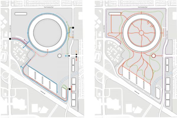 Desenho do novo campus da Apple