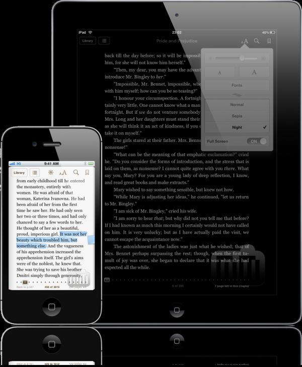 iBooks 1.5 no iPad e no iPhone