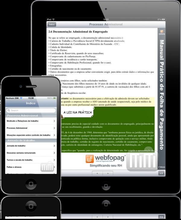 Manual de Folha de Pagamento - iPad e iPhone