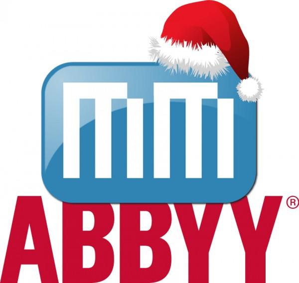 Logos em promoção de Natal - MacMagazine e ABBYY
