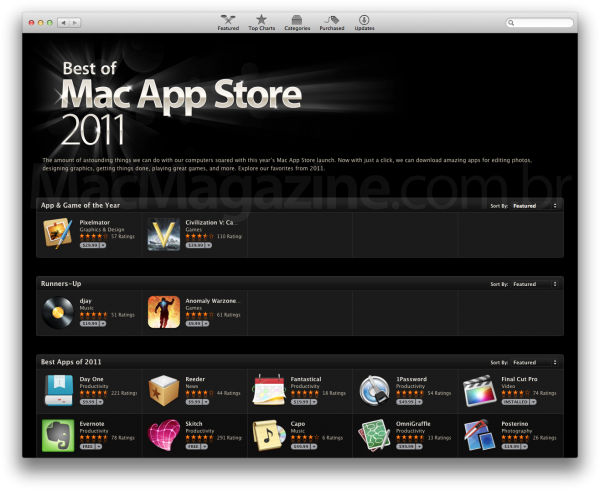 Best of Mac App Store 2011
