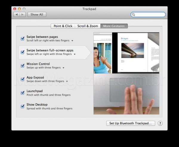 Gesto multi-touch passando por apps full-screen no OS X Lion