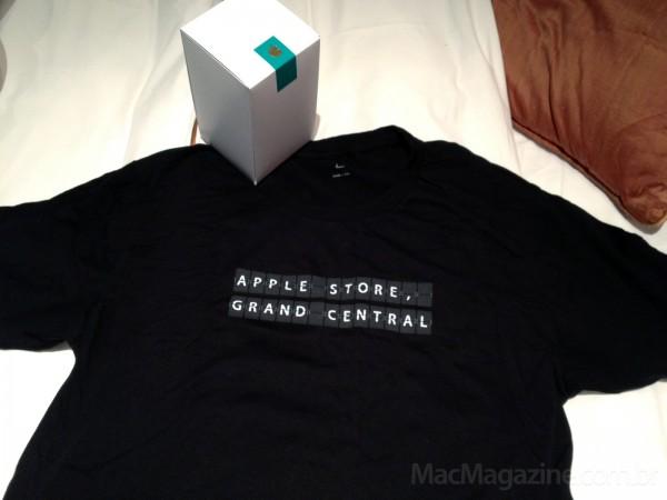 Camiseta da Apple Store Grand Central - foto do Bruno Carvalho