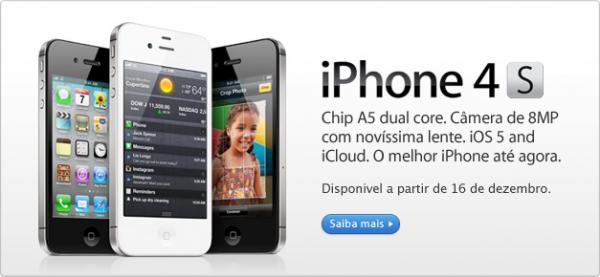 iPhone 4S na Apple Online Store Brasil