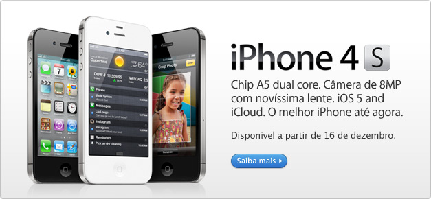 iPhone 4S na Apple Online Store Brasil