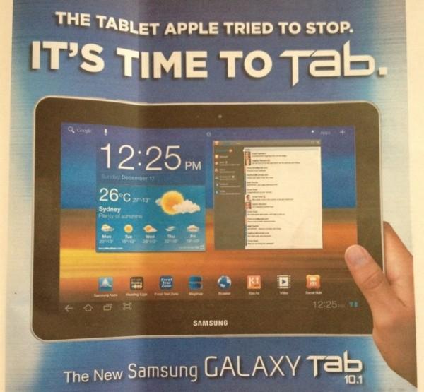 Publicidade da Samsung na Austrália - Graham S.