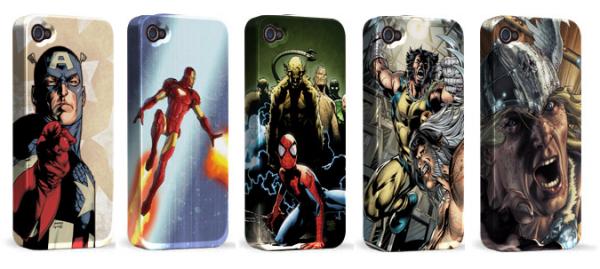Cases de heróis da Marvel