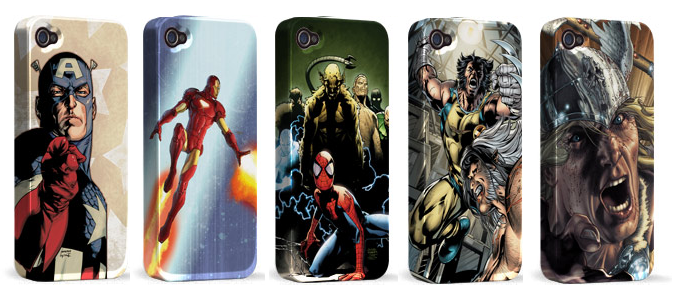 Cases de heróis da Marvel