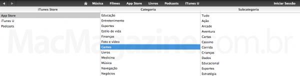 Games na App Store Brasil?