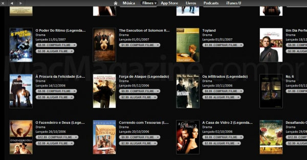 Filmes na iTunes Store BR