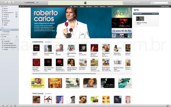 Roberto Carlos na iTunes Store Brasil