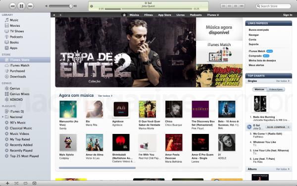 Tropa de Elite na iTunes Store BR
