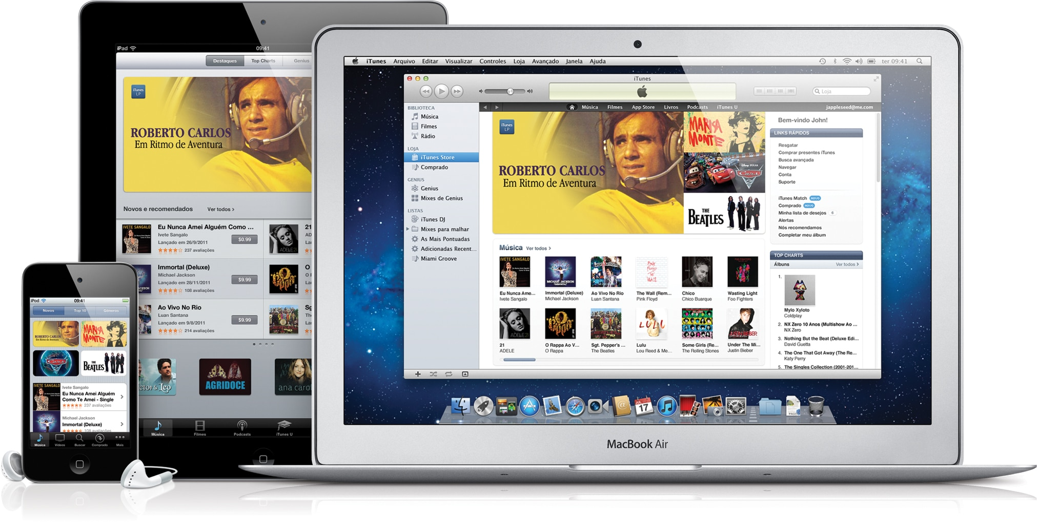 iTunes Store Brasil em iPod touch, iPad e MacBook Air