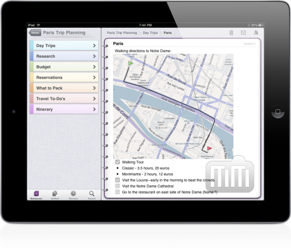 OneNote no iPad 2