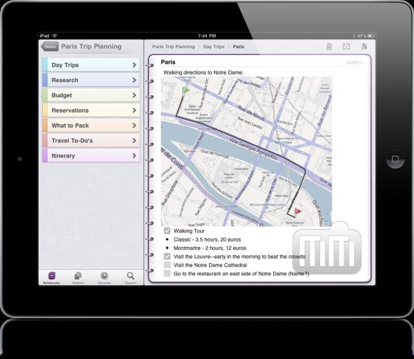OneNote no iPad 2
