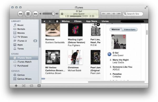 iTunes Store Brasil com previews de 90 segundos